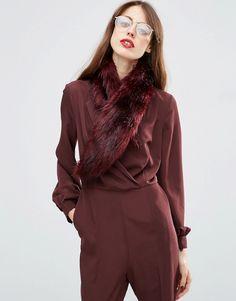 Image 1 ofASOS Faux Fur Mini Slot Through Collar