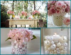 Pérolas na decoração do casamento