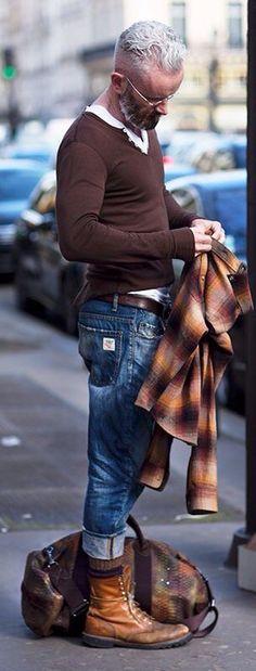 Urban Street Style, Via The Sartorialist, on the Boulevard des Capucines, Paris, Men's Fall Winter Fashion.