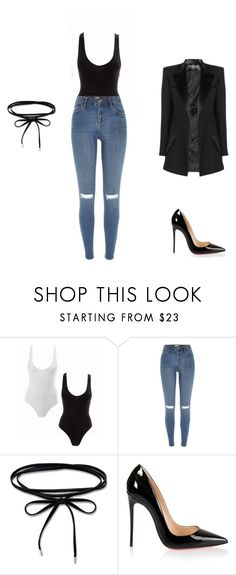 """""""Untitled #61"""" by gleiditeqja ❤ liked on Polyvore featuring Balmain, River Island and Christian Louboutin"""