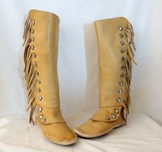 Fringe Moccasin Boots Tumblr | Native American Moccasin Boots For Men Native…