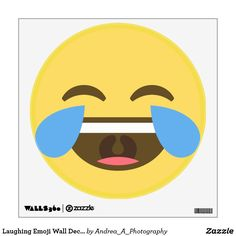 Laughing Emoji Wall Decal #emoji #emojidecor #emojiwallart  #fun