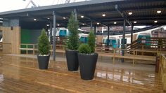 pots Olla 100 cm and Olla 70 cm ht. Finland, Flower Pots, Sky, Plants, Projects, Design, Flower Vases, Heaven, Log Projects