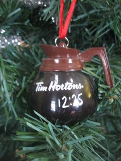 Tim Hortons Christmas Tree Ornament I don't have this one! Great Coffee, Coffee Time, Christmas Is Coming, Winter Christmas, 7th Month, Canadian Christmas, Timmy Time, Fast Casual Restaurant, Tim Hortons