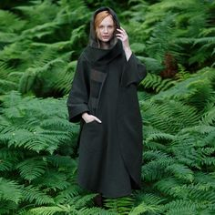 Irish Green Pure New Wool Country Walking Cape