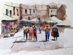 Fernando Pena  Looking for a watercolor that I found, finally not appeared this small-format, that I didn't remember, have painted her :(and how I liked it, share it
