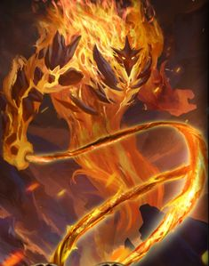 Ignus is one of the most powerful fire demons in existence: he even rivals Surtr, Lord of the Fire Jotuns. His whip can carve through celestial metals and blessed weapons like they're nothing. Magical Creatures, Fantasy Creatures, Fantasy World, Dark Fantasy, Fire Demon, Fire Element, Estilo Anime, Fantasy Kunst, Creature Concept