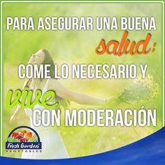 """""""Para asegurar una buena salud; come lo necesario y vive con moderación"""" #FraseDelDía #Motivación"""