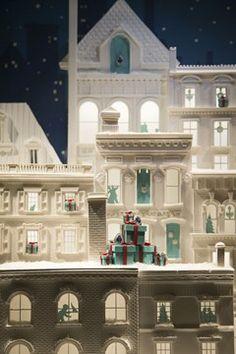 Christmas windows in London