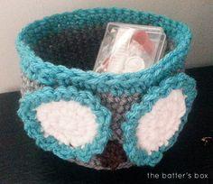 Crochet Owl Basket | free pattern || the batter's box.