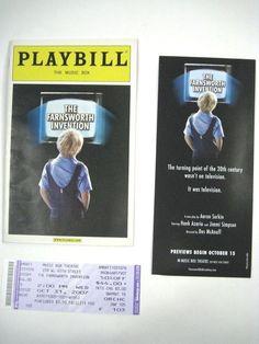 The Farnsworth Invention Playbill 2007 The Music Box Ticket Hank Azaria Simpson