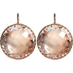 Rose gold earrings.