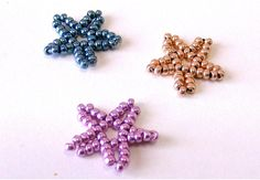 Christmas Ideas part.3 - Little star using seed beads