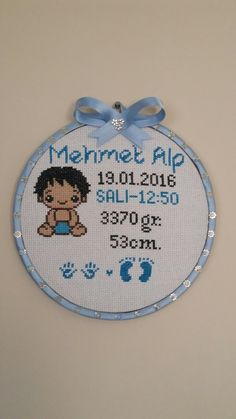 Sevdiklerinize kalıcı hediyeler bırakın fiyat bilgisi ve siparis için lütfen mesaj gönderin... Baby Cross Stitch Patterns, Cross Stitch Alphabet, Cross Stitch Baby, Cross Stitch Designs, Wool Embroidery, Cross Stitch Embroidery, Embroidery Patterns, Saree Painting Designs, Donia