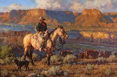 """On the Canyon Rim"" by Jason Rich (Cowboy Artist)"