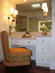 vanity table in closet - Google Search