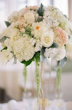 Photographer: Esther Sun Photography; Wedding reception centerpiece idea;