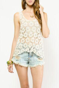 Floral Crochet Knit Top $9.99