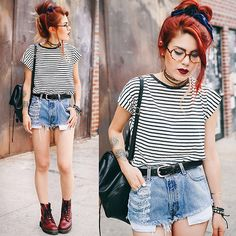 I swear, this girl is the face of pinterest neo-grunge.
