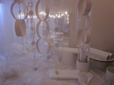 """Syren Töreboda Blog: Dep. Ladybug - vinterrum: Here in the winter time, we have transformed our dance room into a room full of different white materials. The children are given the opportunity to experience the """"white"""" with their whole body ≈≈"""