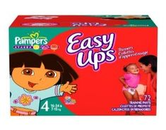 Pampers Easy Ups Trainers Size 4  Pampers Easy Ups help potty training for toddlers and make good sense! #babygifts #babyshower #babygear #babyseats #diapers #nursery #strollers