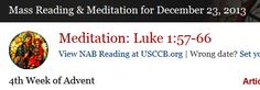 Mass Readings and Catholic Daily Meditations for December 23, 2013 - The Word Among Us - subscription required