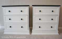 A Crafty Wife: Ikea Rast Hack Part 1