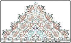 Maia Shawl Pattern Chart