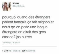 Parce que le français est la langue la plus mignonne? C'est une proposition..