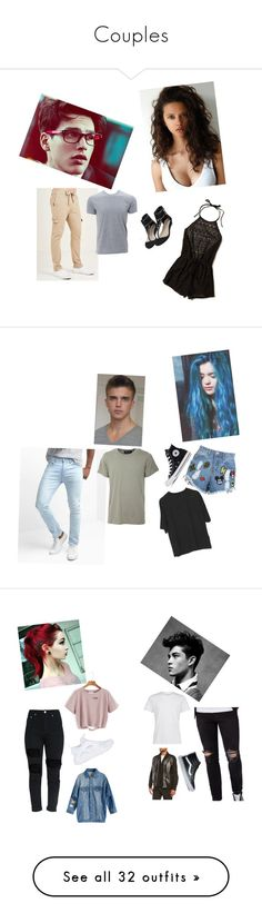 """Couples"" by courtney764 ❤ liked on Polyvore featuring Dsquared2, Hollister Co., Simplex Apparel, Disney Stars Studios, Converse, Gap, Numero00, Topman, DAMIR DOMA and Vans"