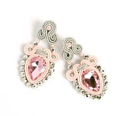 .Marika Zakrzewska Fabric Jewelry, Diy Jewelry, Beaded Jewelry, Jewelery, Handmade Jewelry, Bride Earrings, Lace Earrings, Soutache Earrings, Hairpin Lace Crochet