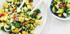 This cucumber and pineapple salad is refreshing, quick and perfect for the warmer months.
