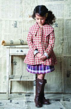 Blu Pony Vintage Frances P. Red Plaid Coat | One Good Thread