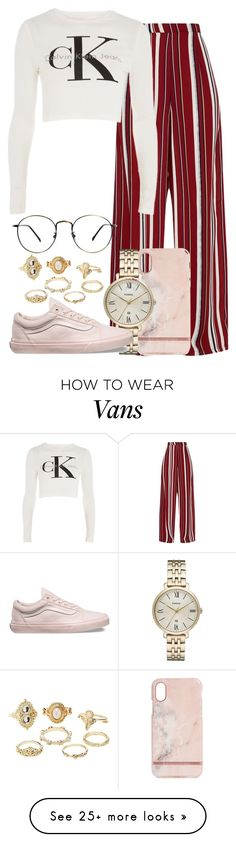 """""""89.1"""" by mallorimae on Polyvore featuring Calvin Klein, Richmond & Finch, FOSSIL, Vans and Charlotte Russe"""