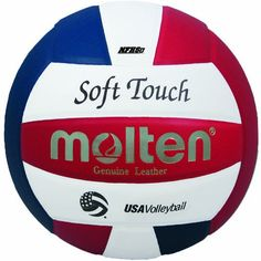 Molten Soft Touch Volleyball (Red/White/Blue, Official)