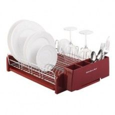 For the kitchen on pinterest cath kidston red kitchen and roman blinds - Kitchenaid dish rack red ...