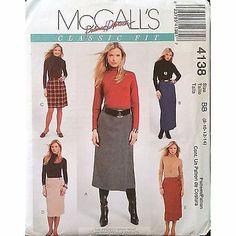 Misses Lined Wrap Skirt McCalls 4138 Pattern Palmer/Pletsch Size 8-14 c1097