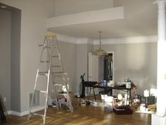 Sherwin Williams Modern Gray- Marina's colour- looks beige and gray depending on the light