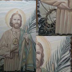 S.Taddeo Pietra lavica e ceramica Versione prima della cottura By Rondinellart