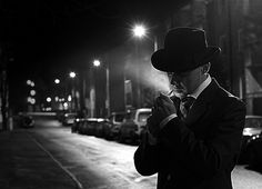 """Contribution to the group """"Picture Sunday"""" (Fotosöndag) on the theme of film noir. Although the lighting might be better in that one, this one had a kind of cinematic feel I liked. Film Noir Photography, Dark Photography, Black And White Photography, Cthulhu, Estilo James Bond, Couple Noir, Mafia Gangster, Dark City, The Villain"""