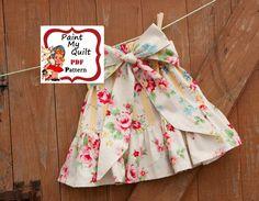 "INSTANT DOWNLOAD pdf  Skirt Pattern PDF Tutorial  E-Pattern skirt sizes 6m through to 10 years ""Charlotte Skirt"". $4.50, via Etsy."