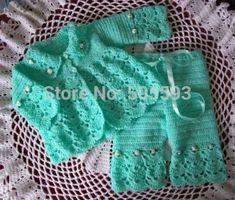 Sweater Dress Crochet Patterns Free | Baby crochet Pattern for Newborn Baby Sweater and Baby pants Newborn ... by sherry