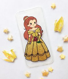 Hand painted Belle phone case - iPhone 6 case - iPhone 6s case - Disney Phone Case - Samsung Galaxy S7 Edge Case - Glitter Phone Case sold by Mint Corner. Shop more products from Mint Corner on Storenvy, the home of independent small businesses all over the world.