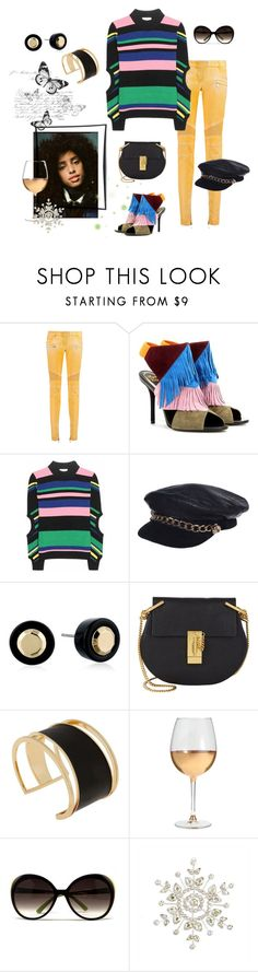 """The good mood on a cloudy day"" by juliabachmann ❤ liked on Polyvore featuring Balmain, Roger Vivier, J.W. Anderson, Eugenia Kim, Marc by Marc Jacobs, Chloé, Rachel Zoe, Marc Blackwell, Alexander McQueen and women's clothing"