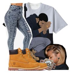 Untitled #2023 by kayla77johnson on Polyvore featuring Timberland