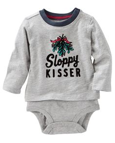 Baby Boy Flocked Double-Decker Bodysuit from OshKosh B'gosh. Shop clothing & accessories from a trusted name in kids, toddlers, and baby clothes.
