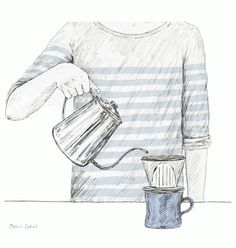 Japanese illustrator Maori Sakai takes our everyday moments in life and turns them into sweet animated illustrations. While her gifs sometimes carry a Coffee Gif, Coffee Meme, Coffee Sayings, Easy Coffee, Coffee Ideas, Coffee Latte, Starbucks Coffee, Hot Coffee, Iced Coffee
