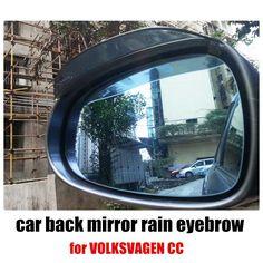 2 x Universal Rain Waterproof Blades Car Mirror Shade Back Eyebrow Cover Flaps