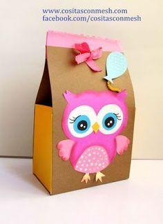 Caja de regalo con cartulina para el día de la madre paso a paso ~ cositasconmesh