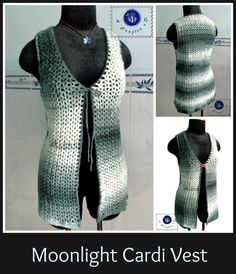 Crochet Moonlight cardi vest - Maz Kwok's Designs